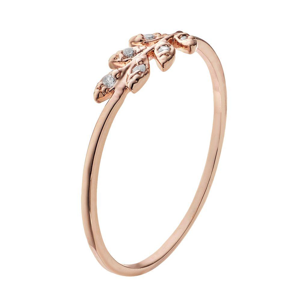 LC Lauren Conrad Leaf Ring