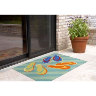 Liora Manne Frontporch Flip Flops Indoor Outdoor Rug