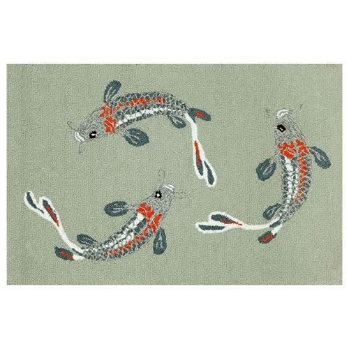 Trans Ocean Imports Liora Manne Frontporch Koi Fish Indoor Outdoor Rug