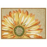 Trans Ocean Imports Liora Manne Frontporch Sunflower Indoor Outdoor Rug
