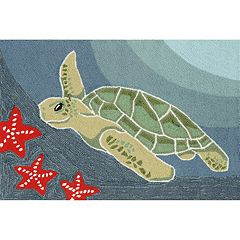 Liora Manne Frontporch Sea Turtle Indoor Outdoor Rug