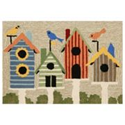 Liora Manne Frontporch Birdhouses Indoor Outdoor Rug