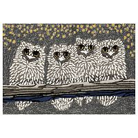 Liora Manne Frontporch Owls Indoor Outdoor Rug