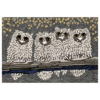 Liora Manne Frontporch Owls Indoor Outdoor Rug