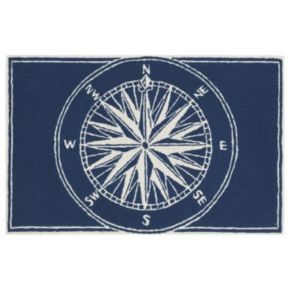 Trans Ocean Imports Liora Manne Frontporch Compass Indoor Outdoor Rug