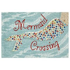 Liora Manne Frontporch Mermaid Crossing Indoor Outdoor Rug