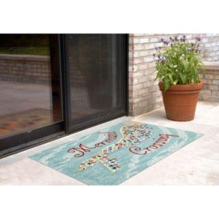 Liora Manne Frontporch Mermaid Crossing Indoor Outdoor Rug