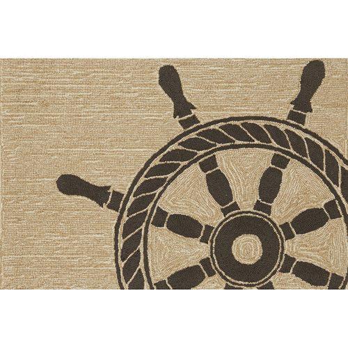 Liora Manne Frontporch Ship Wheel Indoor Outdoor Rug