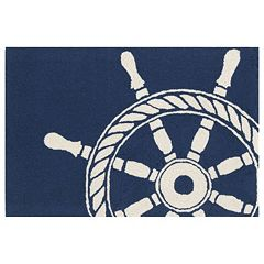 Liora Manne Frontporch Ship Wheel Indoor Outdoor Rug
