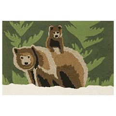 Liora Manne Frontporch Bear Family Indoor Outdoor Rug