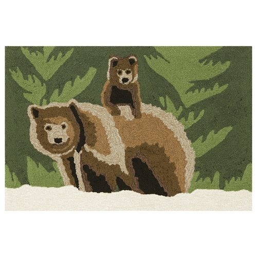 Trans Ocean Imports Liora Manne Frontporch Bear Family Indoor Outdoor Rug