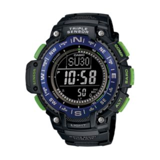Casio Men's Triple Sensor Digital Watch - SGW1000-2BCF