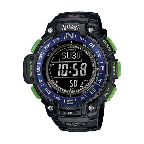 Casio Men's Triple Sensor Digital Watch - SGW1000-2BCF