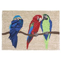 Liora Manne Frontporch Parrots Indoor Outdoor Rug