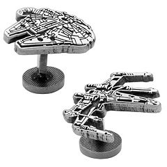 Star Wars Millennium Falcon & X-Wing Etched Cuff Links