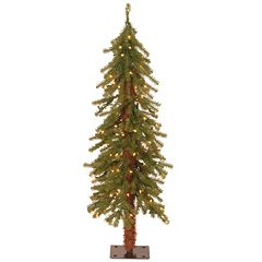4-ft. Pre-Lit Hickory Cedar Artifical Christmas Tree