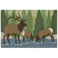 Trans Ocean Imports Liora Manne Frontporch Elk Indoor Outdoor Rug