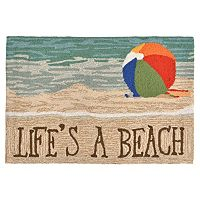 Liora Manne Frontporch Life's a Beach Indoor Outdoor Rug