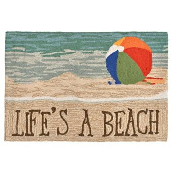Trans Ocean Imports Liora Manne Frontporch Life's a Beach Indoor Outdoor Rug