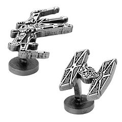 Star Wars X-Wing & TIE Fighter Battle Ship Cuff Links
