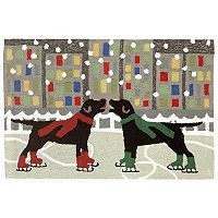 Liora Manne Frontporch Holiday Ice Dogs Indoor Outdoor Rug