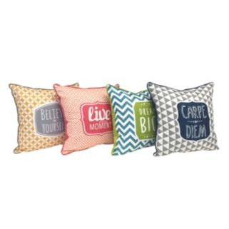 Colordrift ''Live Every Moment'' Throw Pillow