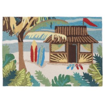 Liora Manne Frontporch Tiki Hut Indoor Outdoor Rug