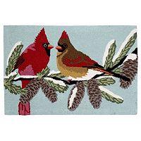 Trans Ocean Imports Liora Manne Frontporch Cardinals Indoor Outdoor Rug