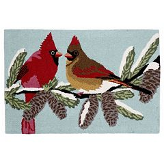 Liora Manne Frontporch Cardinals Indoor Outdoor Rug