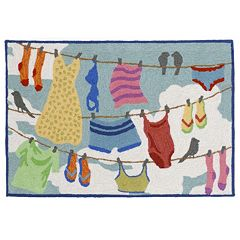 Liora Manne Frontporch Clothesline Indoor Outdoor Rug