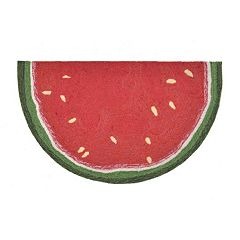 Liora Manne Frontporch Watermelon Slice Indoor Outdoor Rug