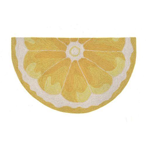 Liora Manne Frontporch Lemon Slice Indoor Outdoor Rug