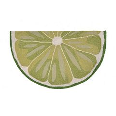 Liora Manne Frontporch Lime Slice Indoor Outdoor Rug