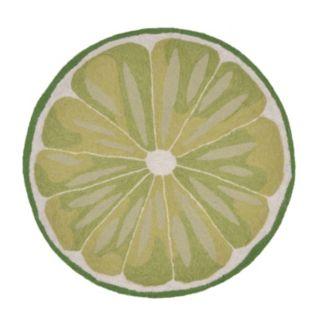 Liora Manne Frontporch Lime Slice Indoor Outdoor Rug