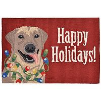 Liora Manne Frontporch Happy Holidays Indoor Outdoor Rug