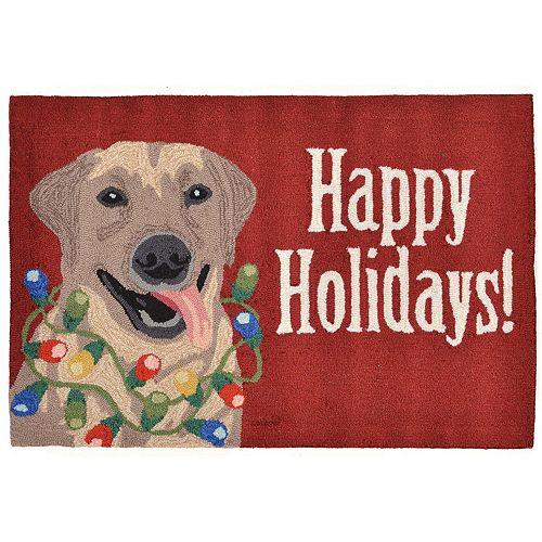 Liora Manne Frontporch Happy Holidays Indoor Outdoor Rug