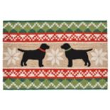 Liora Manne Frontporch Nordic Dogs Indoor Outdoor Rug