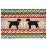 Liora Manne Frontporch Nordic Dogs Indoor Outdoor Rug