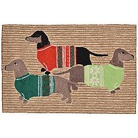 Trans Ocean Imports Liora Manne Frontporch Holiday Hounds Indoor Outdoor Rug