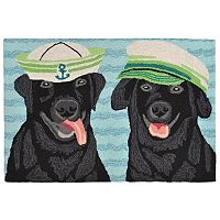 Trans Ocean Imports Liora Manne Frontporch Salty Dogs Indoor Outdoor Rug