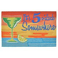 Trans Ocean Imports Liora Manne Frontporch It's 5 O'Clock Somewhere Indoor Outdoor Rug
