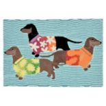 Trans Ocean Imports Liora Manne Frontporch Tropical Hounds Indoor Outdoor Rug
