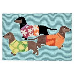Liora Manne Frontporch Tropical Hounds Indoor Outdoor Rug