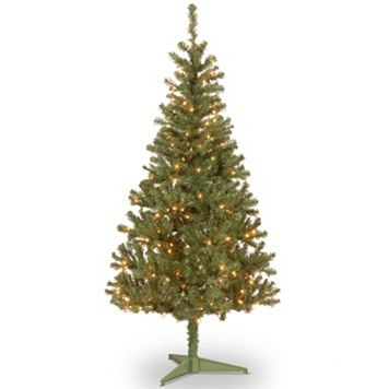 6-ft. Pre-Lit Canadian Grande Fir Wrapped Light-up Artifical Christmas Tree