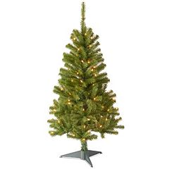 4-ft. Pre-Lit Canadian Grande Fir Wrapped Artifical Christmas Tree