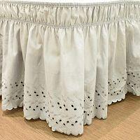 EasyFit Wrap Around Eyelet Ruffled Bed Skirt