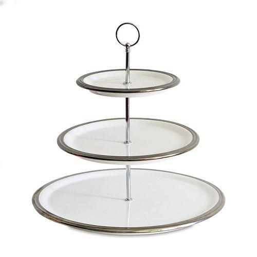 baum 3 tier serving stand. Black Bedroom Furniture Sets. Home Design Ideas
