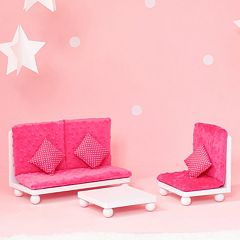 Olivia's Little World Little Princess Doll Furniture 18-in. Pink Lounge Set by