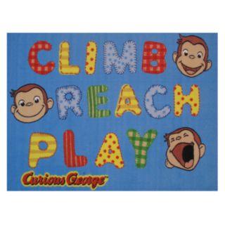 Fun Rugs Curious George Climb, Reach, Play Rug