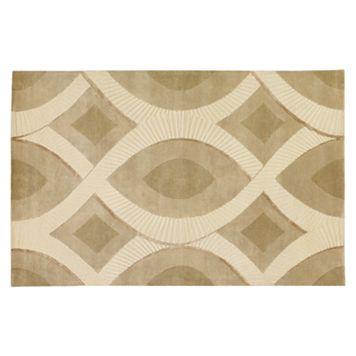 Surya Decadent Ivory Geometric Wool Rug